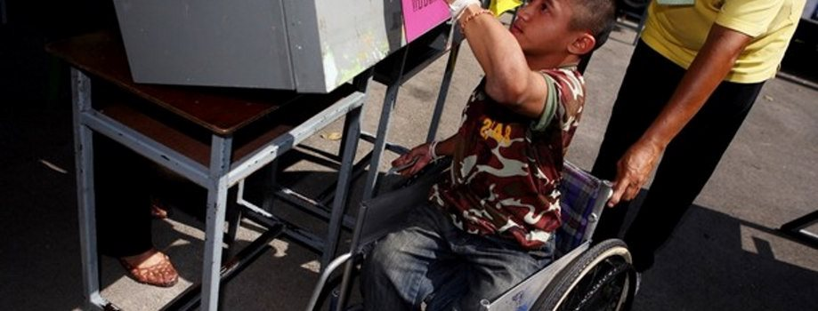Pictures of persons with disabilities in an electoral context 1