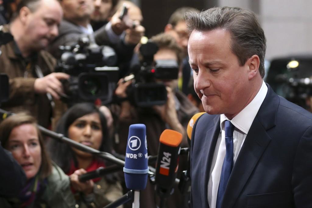 Der britische Premierminister Cameron kommt zu einem informellen Gipfeltreffen der Staats- und Regierungschefs der Europäischen Union in Brüssel