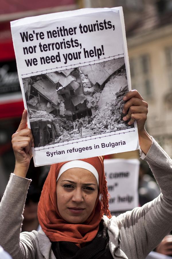 ffoaduriaid Syria mewn dogfennau galw Bwlgaria caniatáu mynediad yng ngwledydd yr UE