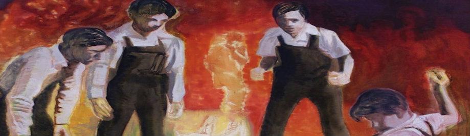 Kids Fighting Friend Acryl und Öl auf Leinwand 194 143à 2007 cm XNUMX
