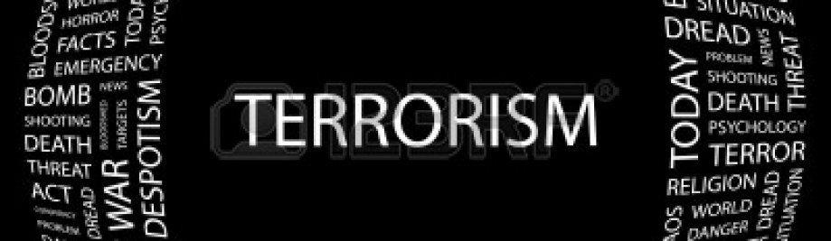 7363566 terrorismoaren-hitza-collage-on-black-background-bektore-ilustrazioa