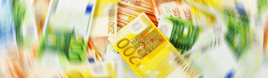 Geldwassery. Euro Europese geldeenheid