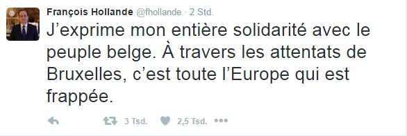 Hollande Twitter