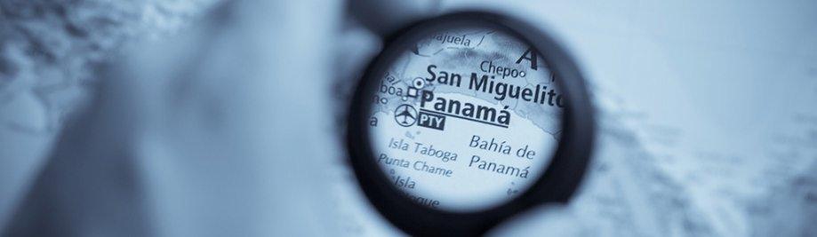 Selektiewe fokus op antieke kaart van Panama