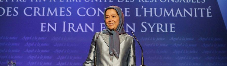 10-3maryam-rajavi-bel-vir--geregtigheid eindig-straffeloos-vir-oortreders-van-misdade teenoor-die mensdom-in-Iran-en-Sirië