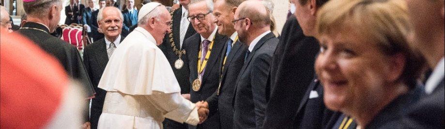 Charlemagne-prys 2016 in Rome. Toekenning van die Charlemagne-prys aan pous Franciskus