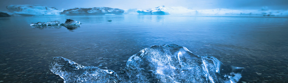 Beautiful cold landscape picture of iceland glacier lagoon bay