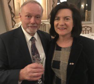 Sir Terry Matthews & Eluned Morgan AM
