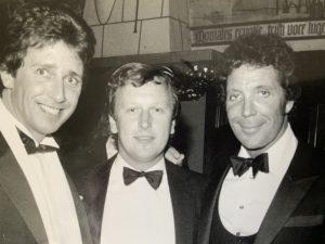 Colin Stevens (centre) with Tom Jones (right)